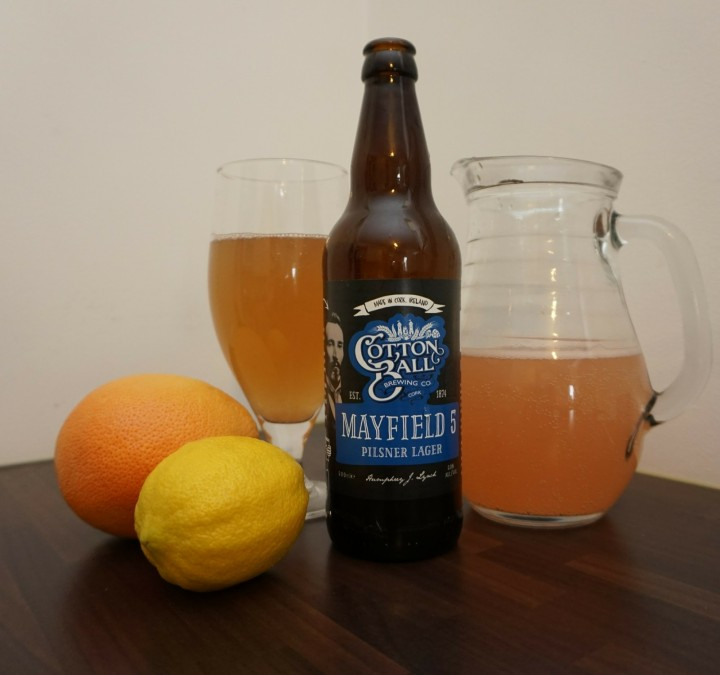 Homemade GrapeFruit Radler
